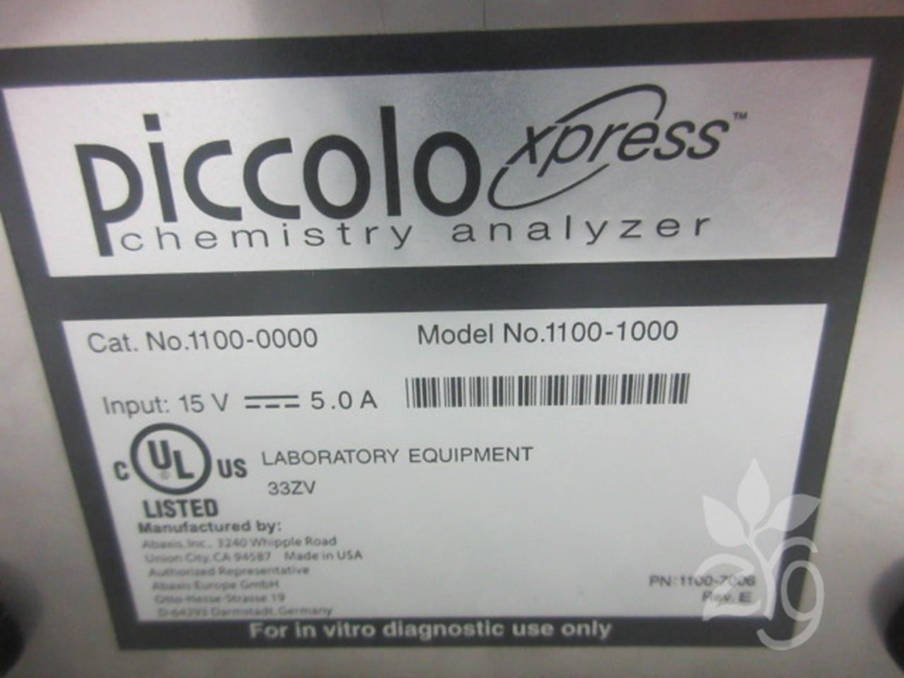 Product Details ABAXIS PICCOLO XPRESS CHEMISTRY ANALYZER